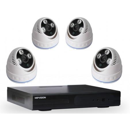Kit DVR AHD 4 canaux + 4 Caméras MIPVISION Internes 1MP