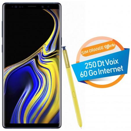 Téléphone Portable Samsung Galaxy Note 9 / Bleu + SIM Orange Offerte (60 Go)