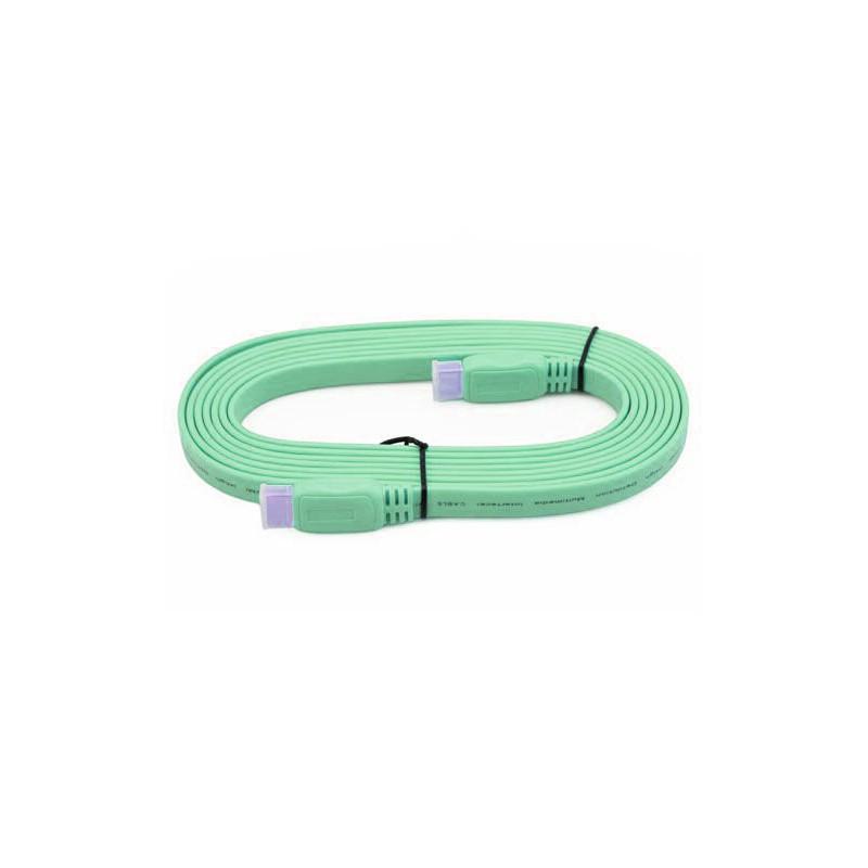 Câble HDMI Plat 1.5M Vert