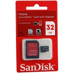 Carte Mémoire micro SDHC 16Go + Adaptateur