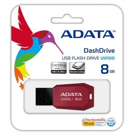 Clé USB Adata UV100 / 8Go Rouge