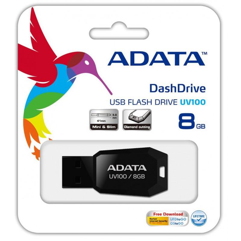 Clé USB Adata UV100 / 8Go Noir