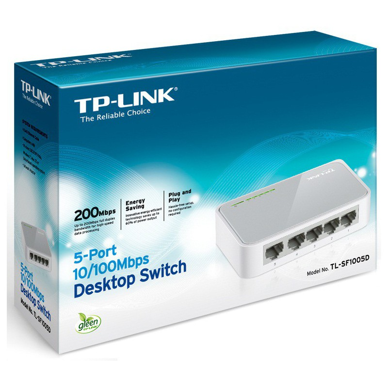 Switch de bureau 5 ports 10/100 Mbps