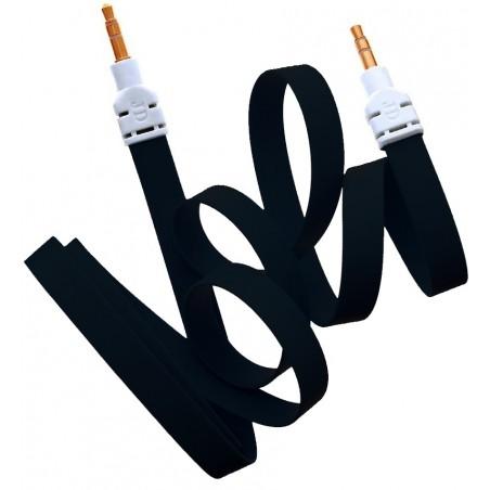 Câble Jack Male/Male Plat Noir