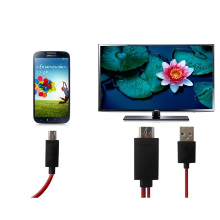 Adaptateur HDTV Micro USB / MHL vers HDMI