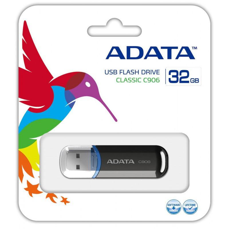 Clé USB Adata C906 / 32Go / Noir