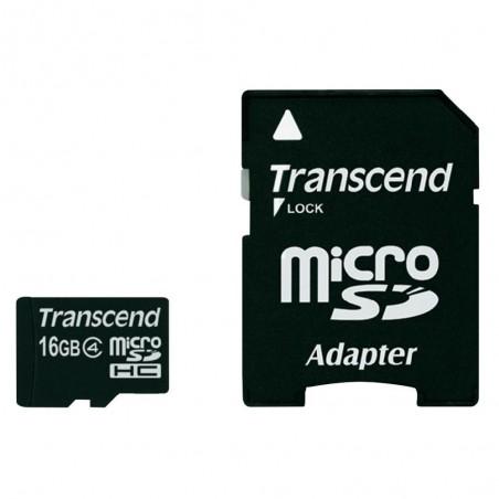 Carte mémoire mico SDHC 16 Go + Adaptateur SD