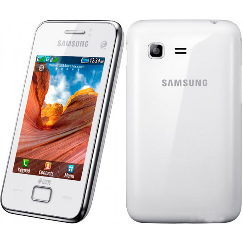 telephone portable tunisie  samsung star double puce blanc