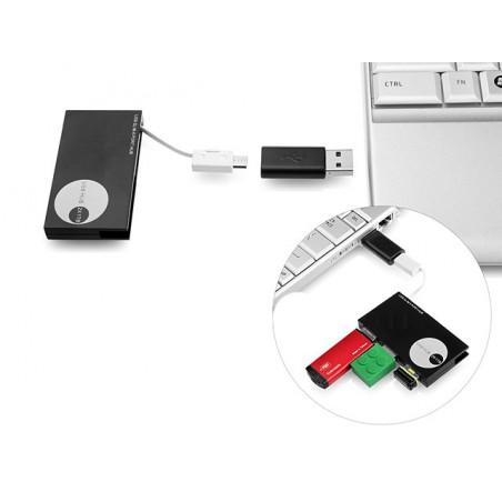 Hub USB 3 Ports Vers Micro USB + Adaptateur Micro USB (Female) Vers USB Male