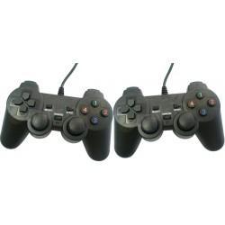 Double Manettes de jeu USB Tech-Com Double Vibration