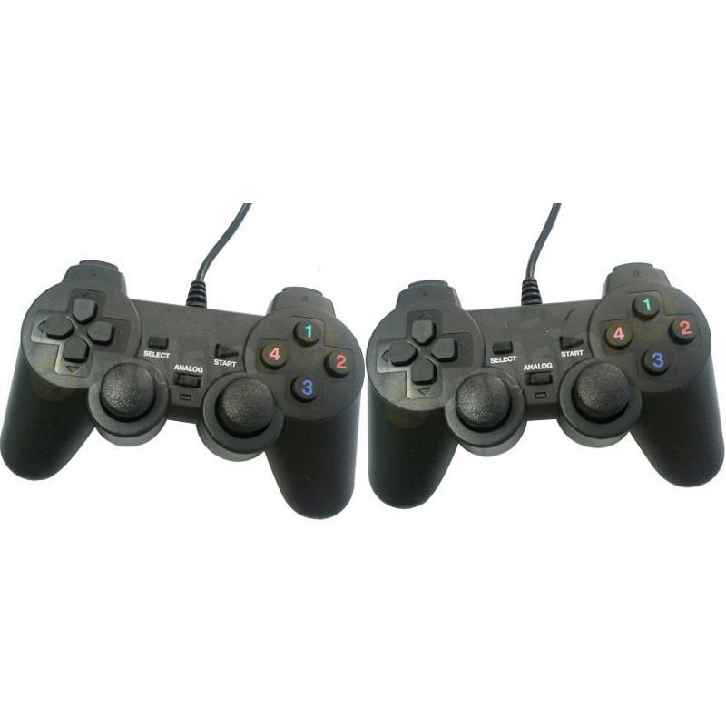 Double Manettes de jeu USB Double Vibration