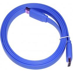 Câble HDMI Plat 1.5M Bleu