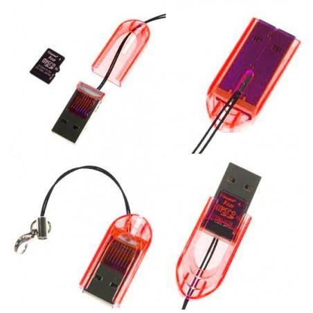 Mini Lecteur de cartes mémoire Micro SD avec Sangle