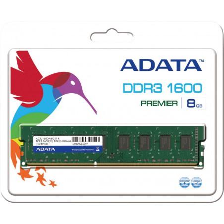 Barette Mémoire Adata 8 Go DDR3 / 1600 MHz