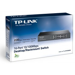 Switch TP-Link 16 ports 10/100 Mbps