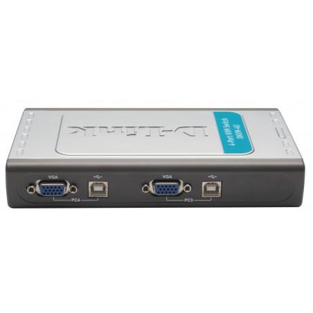 DKVM-4U Switch 4 ports clavier-écran-souris avec câbles intégrés USB