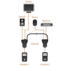 Commutateur KVM 2 Ports Avec Audio