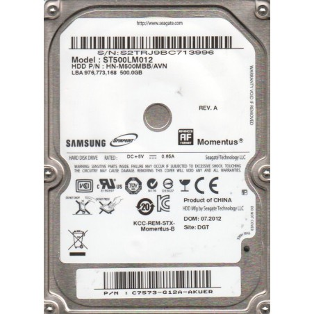 Disque Dur Interne Seagate Barracuda 500 Go