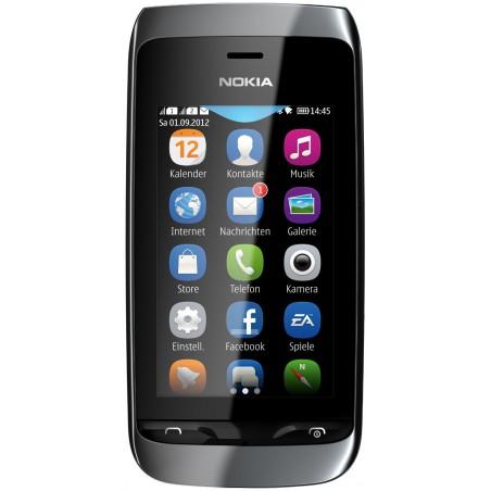 Téléphone Portable Nokia Asha 308 / Double SIM / Noir