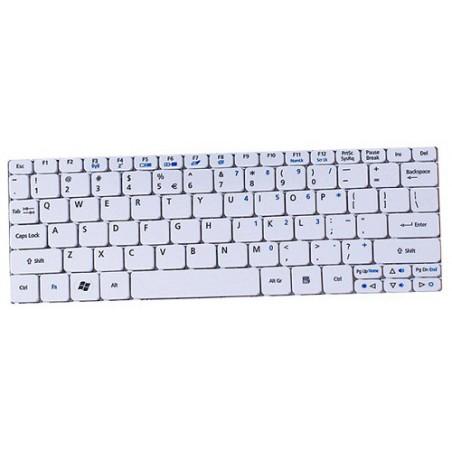 Clavier pour pc portable Acer Aspire Mini D270 Blanc