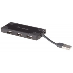 Hub de poche Manhattan USB 2.0 haut débit 7 Ports