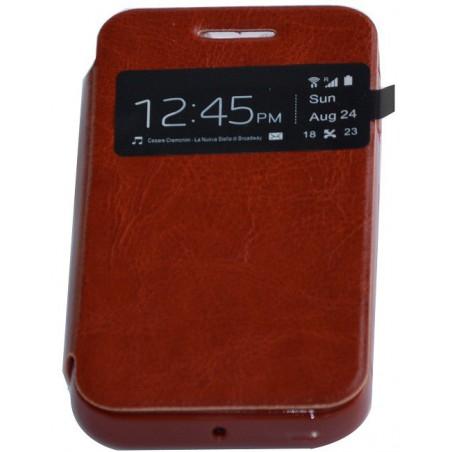Etui en Cuir Pour Samsung Galaxy S4 Mini / Noir