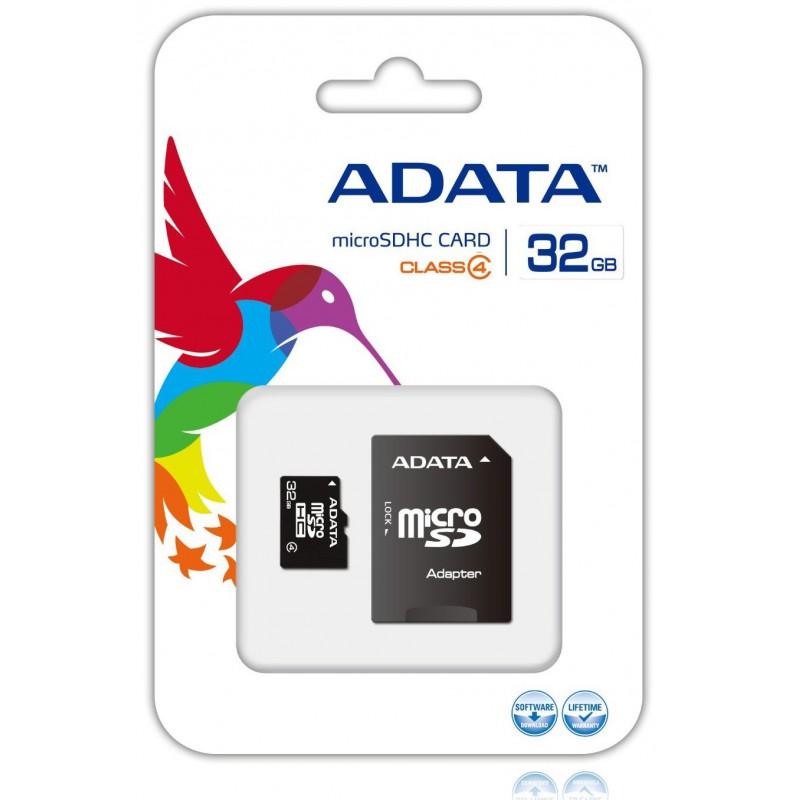 Carte Mémoire Micro SD 32 Go Class 4 avec adaptateur