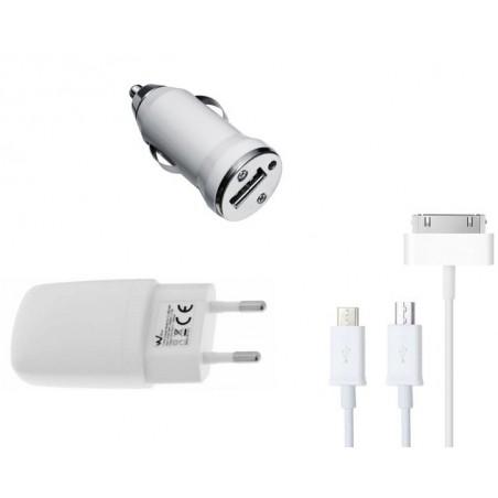 Chargeur Secteur USB + Câble USB vers Micro USB