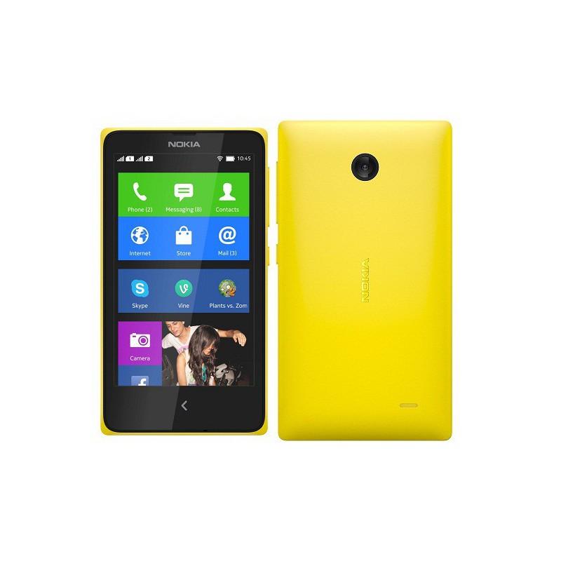 Téléphone Portable Nokia X / Double SIM / Jaune