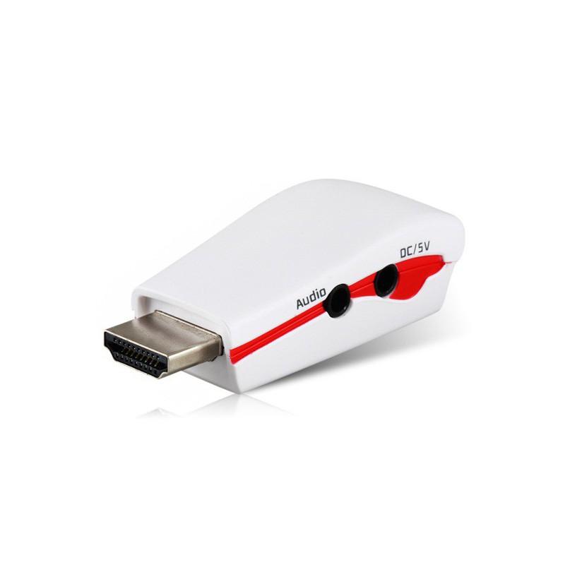Adaptateur HDMI vers VGA femelle avec Audio