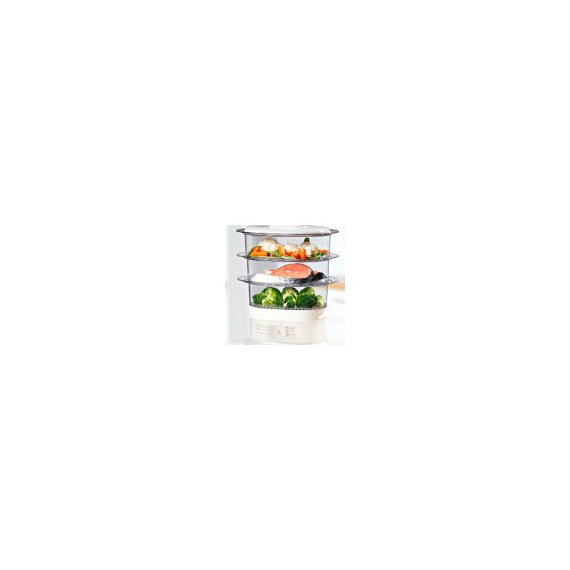 Cuiseur vapeur compact tefal vc1301 for Appareil vapeur cuisine