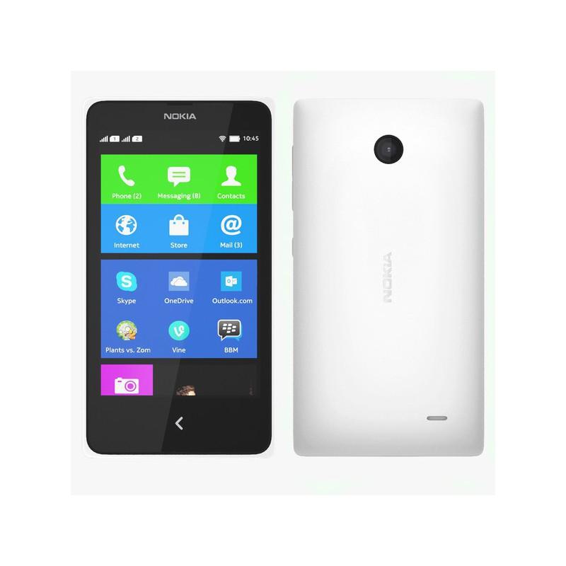 Téléphone Portable Nokia X2 / Double SIM / Blanc + SIM Offerte