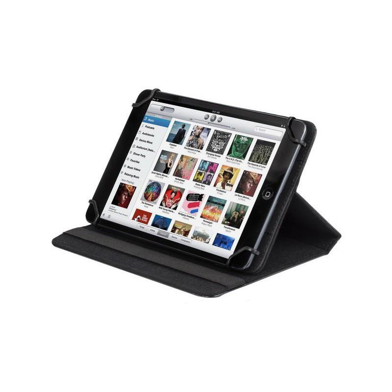 etui en cuir pour tablette 7 8 noir. Black Bedroom Furniture Sets. Home Design Ideas