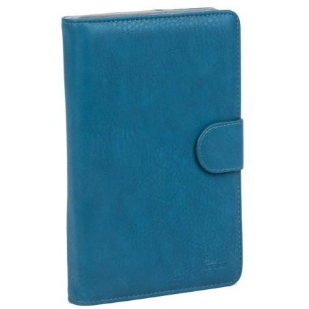 """Etui en cuir pour tablette 7"""" Bleu"""