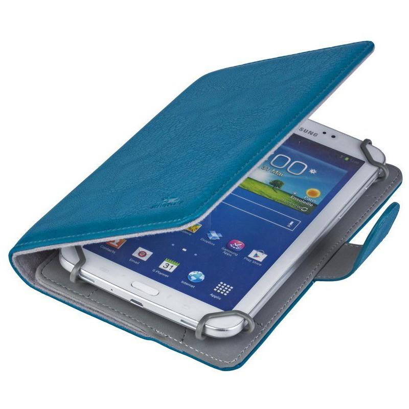 etui en cuir pour tablette 7 aquamarine. Black Bedroom Furniture Sets. Home Design Ideas