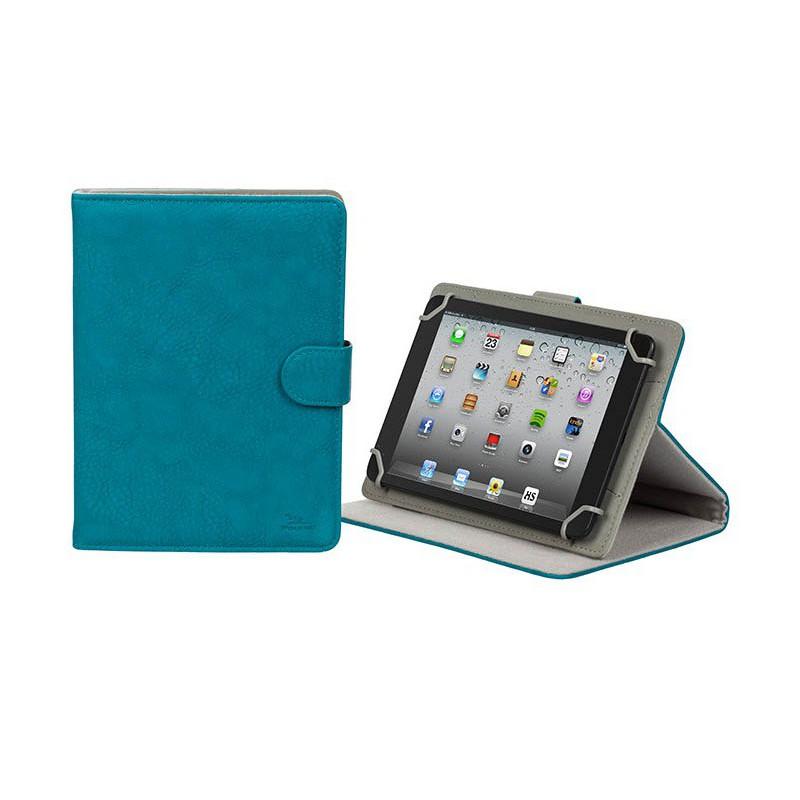 """Etui en cuir pour tablette 10.1"""" Bleu"""
