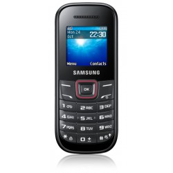 Téléphone Portable Samsung E1200R / Noir & Rouge