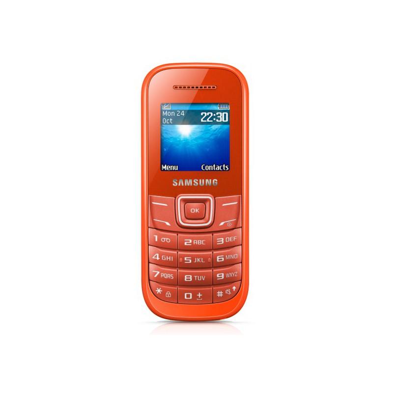 Téléphone Portable Samsung E1200R / Orangé + SIM Offerte