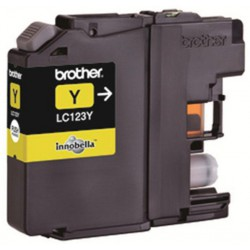 Cartouche adaptable Brother LC123 Yellow