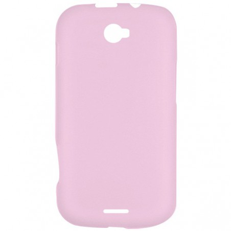 Coque en Silicone Pour Evertek EverMellow D50 Rose Transparent