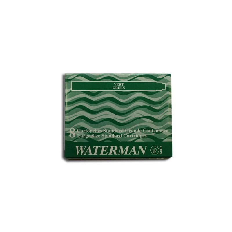 Boite de 8 cartouches standard grande contenance Waterman Vert
