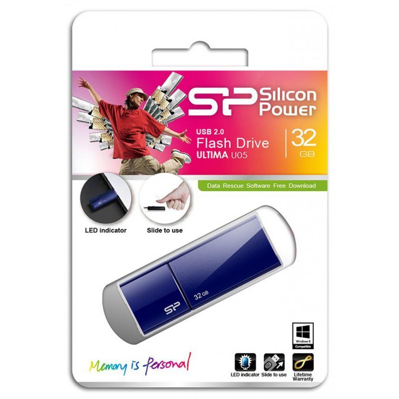 Clé USB Silicon Power Ultima U05 / 32 Go / Bleu