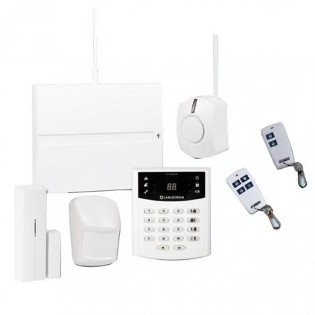 kit alarme sans fil avec transmetteur gsm. Black Bedroom Furniture Sets. Home Design Ideas