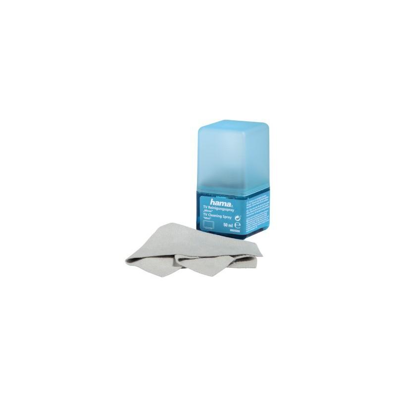 Hama Spray de nettoyage Ecran 50 ml + chiffon / Menthe