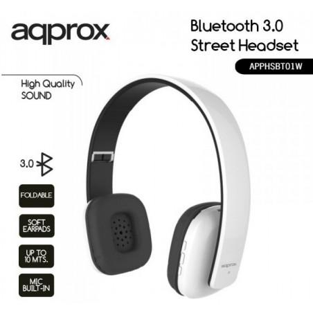 Casque Stéréo avec Micro Bluetooth avec Batterie