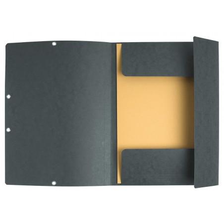 Chemise à élastique 3 rabats - A4 / Gris