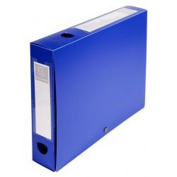 Boite de classement à pression Dos 60mm / Bleu