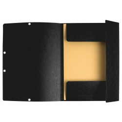 Chemise à élastique 3 rabats Nature Future - A4 / Noir
