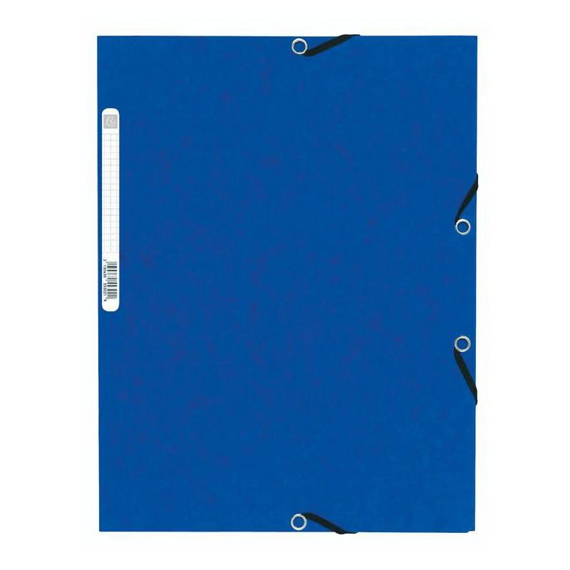 Chemise à élastique 3 rabats Nature Future - A4 / Bleu