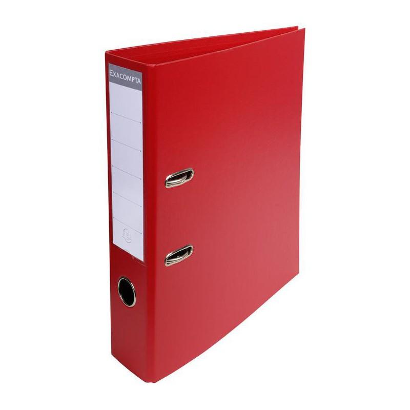 Classeur à levier PVC A4 dos de 70mm / Rouge
